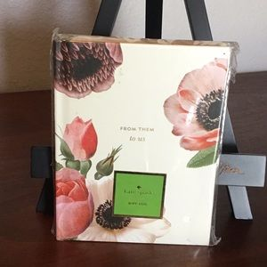 🌹KATE SPADE NY BLUSHING FLORAL BRIDAL GIFT LOG🌹